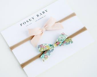 Mini Baby Bow Headbands | Liberty of London Baby Bows | Liberty of London Baby Headband Set