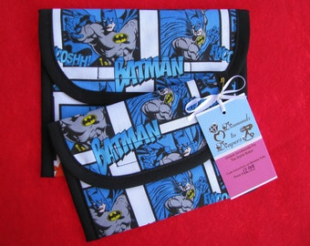 Batman Reusable Lunch Bag Set of 2 - Snack and Sandwich Size