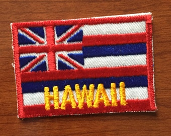 Hawaii Flag Souvenir Travel Patch by Voyager
