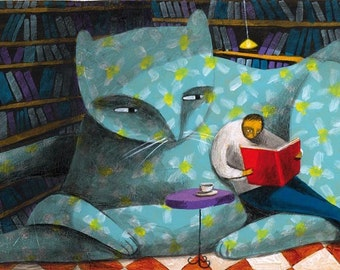 the sofa cat by Carlos C. lainez