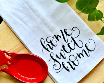 FREE SHIPPING Kitchen Tea Towel - farmhouse kitchen towel*custom kitchen towel*flour sack towel* kitchen towel*tea towel*rae dunn inspired