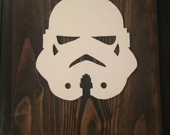 Stormtrooper reclaimed wood sign