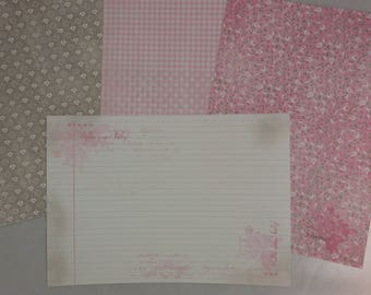 """Assortment of small """"girl"""" patterned papers"""