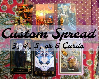 Custom Spread: A Three, Four, Five or Six Card Reading Tailor-Made for Your Specific Situation