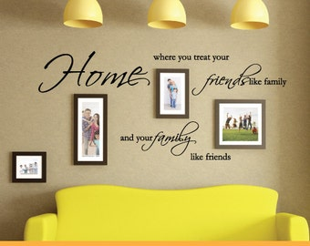 Home is Where You Treat Your Friends & Family | Removable Wall Decal Sticker | MS051VC