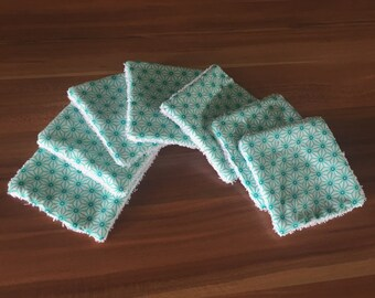 Set of 7 Mint green baby wipes