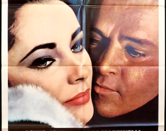 "The V.I.P.s  ~ Sublime TAYLOR & BURTON Image! Gorgeous 27""x41"" American 1 Sheet Movie Poster ~ Vintage 1963 Original in Very Fine Condition!"
