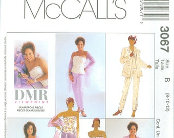 2000 Misses' Bustier, Pants, Skirt, Jacket and Stole Uncut Factory Fold Size 8,10,12 - McCall's Sewing Pattern 3067
