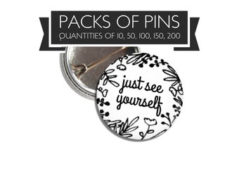 Just See Yourself Just See Me Too Pins jw gifts | jw pioneer gifts | jw convention gift | Jehovah's Witnesses | special convention gift
