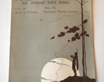 Vintage Sheet Music, Pale Moon, An Indian Love Song