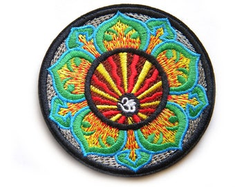 """Om Embroidered Patch Appliqué 3"""""""