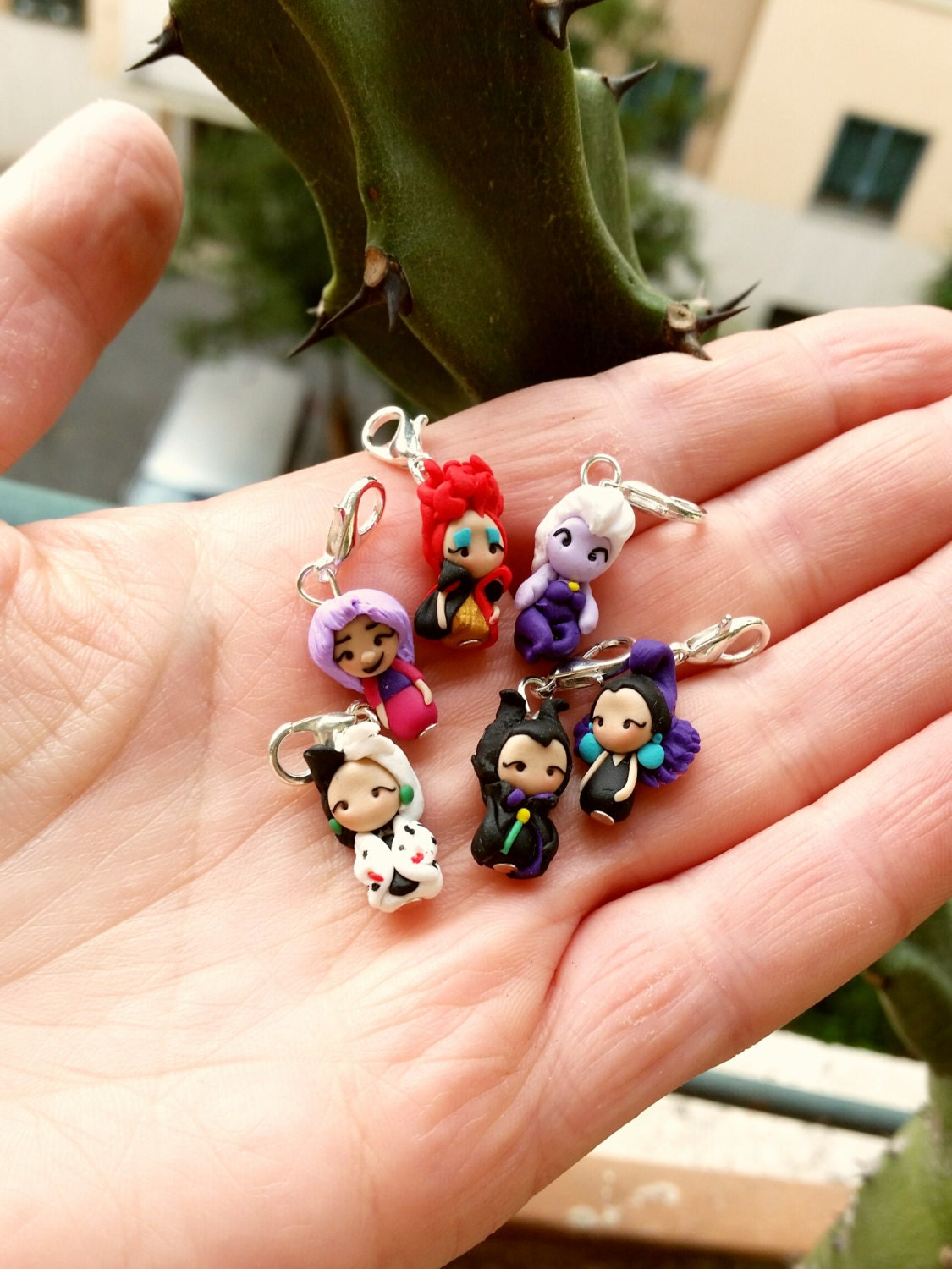 Disney villain charm inspired clay stich markers