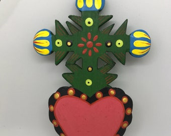 Handmade Wooden Mexican Folk Art Christmas Ornaments