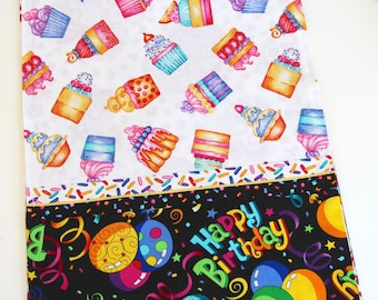 Happy Birthday and Stars Table Runner