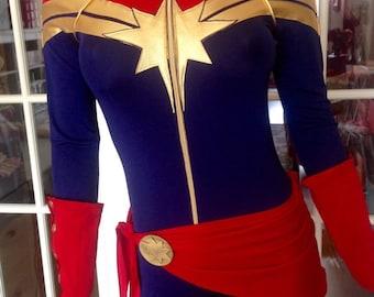 Captain Marvel Superhero Costume. Cosplay,Custom made