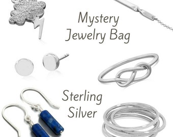 Sterling silver Jewelry mystery bag - great gifts at a great price