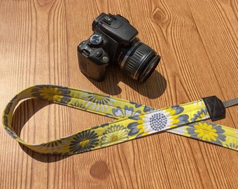 Yellow Floral Camera Strap