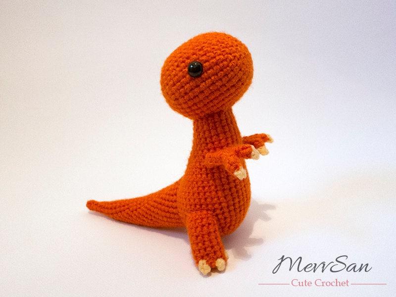 Crochet PATTERN Amigurumi Tyrannosaurus Rex Dinosaur t rex