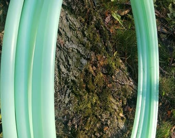 5/8 UV Mint polypro collapsible hula hoop
