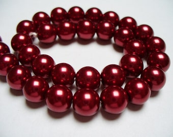 Glass Pearl Red 8MM
