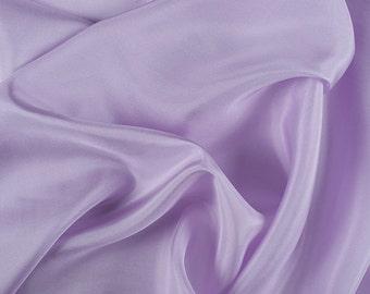 "45"" Wide 100% Silk Crepe de Chine Lilac Purple by the yard (1200M119)"