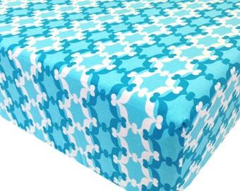 reg. price 26.00 Moroccan Aqua Crib Sheet