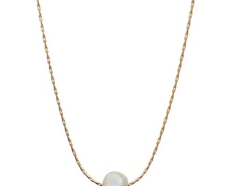Fresh water pearl necklace gold or silver plated