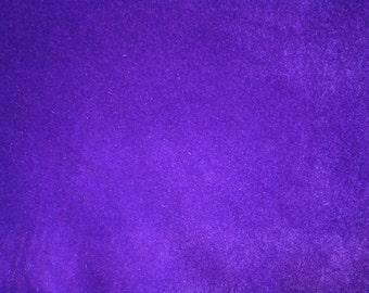 "Purple Cotton Upholstery Velvet Fabric 45"" Wide Per Yard"