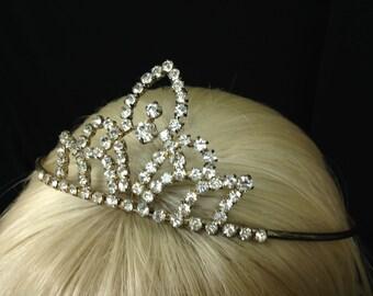Vintage Blooming Tulip Rhinestone Tiara! Wear for wedding, prom, sweet 16,  quinceanera,  princess or queen costume!