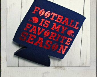 Gameday Can Cozy - Football Is My Favorite Season - Navy and Red - Ole Miss Gameday