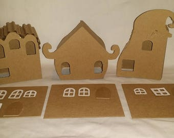 Whimsical/Whoville Style Houses- DIY Cardboard Houses