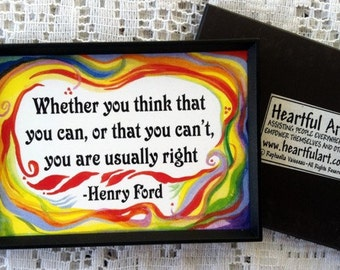 Whether You Think HENRY FORD MAGNET Inspirational Quote Motivational Print Success Friendship Gift Decor Heartful Art by Raphaella Vaisseau
