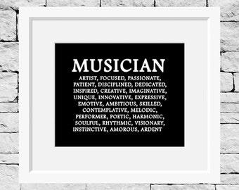 Music Quote, Music Print, Musician Definition, Music Teacher, Music Room Decor, Music Student, Music Art, Music Quote, Music Poster
