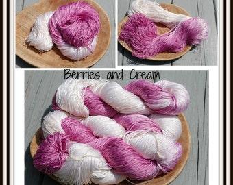 Berries and Cream 100% Silk Yarn Sport Weight