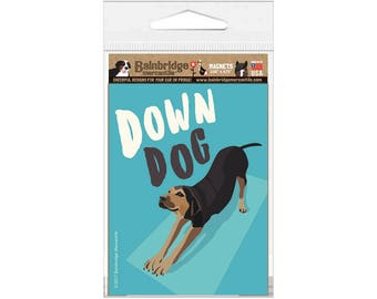 "Down Dog - Magnet 3.56"" x 4.75"""