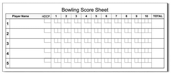 Bowling Score Pad  X  Sheets Notepad