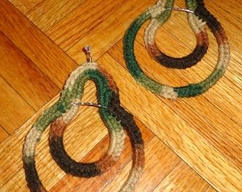 Forest Bunny, Crochet Earrings