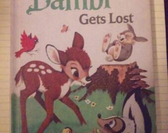 Vintage Bambi Gets Lost hardback Second Edition