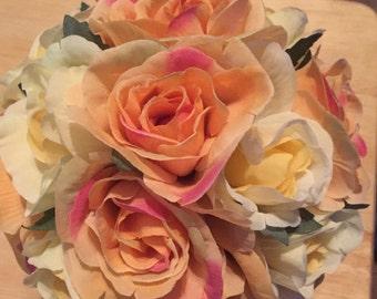 Mini silk flower arrangements