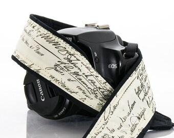 dSLR Camera Strap, Vintage Script, SLR, Old Script, Canon camera strap, Nikon camera strap,  267