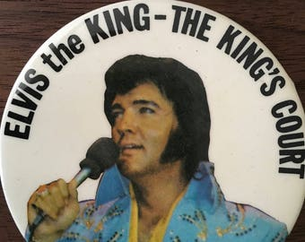 Elvis Presley The King's Court Pinback Button