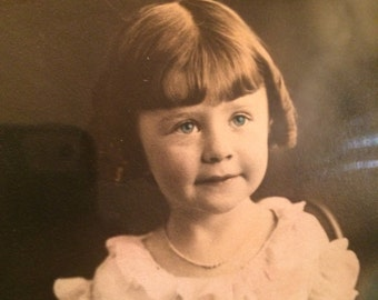 She Had A Valentine She Wanted To Share Vintage Tinted Photo Of Little Girl