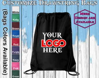 Customize Drawstring bags Personalized Bags Custom Drawstring Bag Custom Logo Bags Your Logo Here Drawstring Backpack Bags Office Drawstring