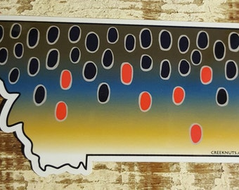 Montana Brown Trout Sticker Decal
