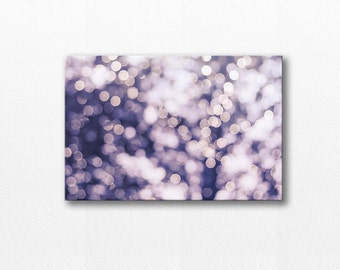 abstract canvas art abstract photography canvas print 12x18 fine art photography bokeh canvas wrap winter photography lilac nursery decor