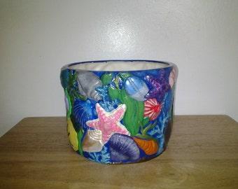 Ocean Seashell Scene Planter