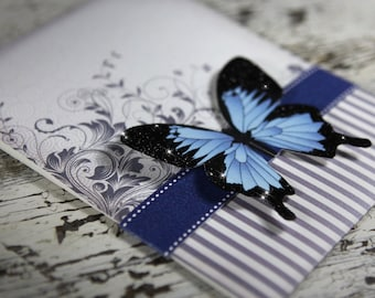 Blue Mountain Butterfly Wedding Invitation Suite (SAMPLE)