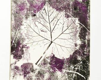 Mono Print (Purple) Vine Leaf