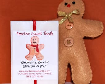 Gingerbread Cookies Scented Shea Butter Soap 4.5oz