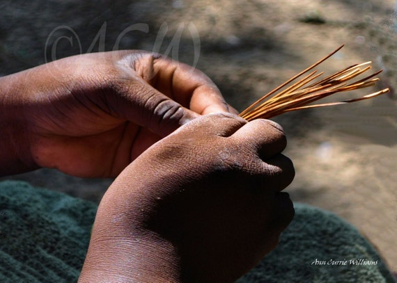 Sweet Grass Basket Weaver's Hands South Carolina (PR) ( 16 x 20 canvas)